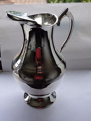 Water Jug Vintage Silver Plated Top Quality Good Size 1920/40 England Marked