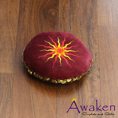 MAROON 16cm x 4.5cm Cushion for Tibetan Singing Bowl *Suits Med-Large Bowl*