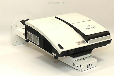 Hitachi Ed-A100 Short Throw Projector 1566 Hours Used & Wall Mount - Grade B