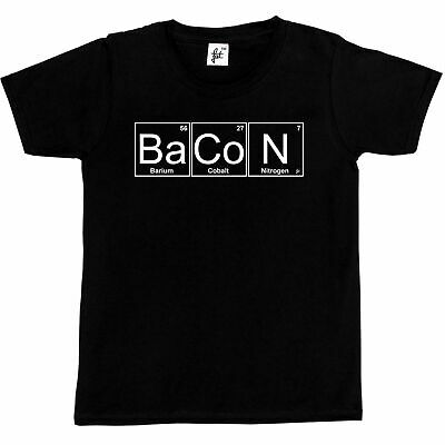 Periodic Table - Chemistry Of Bacon Geek Chemistry  Kids Boys / Girls T-Shirt