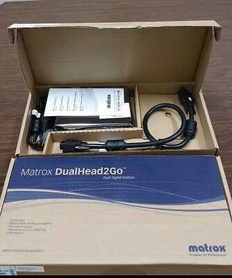One New Matrox 2G-DP2D-IF DualHead2Go Digital SE for Laptop Dual Digital Edition