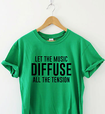 LET THE MUSIC DIFFUSE ALL THE TENSION Awesome concert t shirt vibe rock house