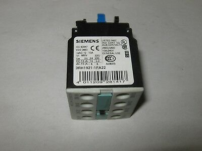 Siemens 3RH1921-1FA22 Auxiliary Contact Block, Used
