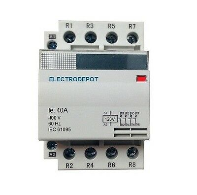 Lighting Contactor Normally Closed NC 40A, 4 Pole 120V coil, 40 Amp 110v 30a 32a