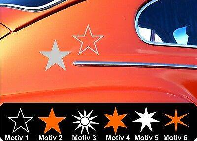 Star Stars Sticker Stars Star Sticker Colourless And Size Selection Set Car