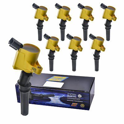 Set of 8 Herko B029He Ignition Coils For Ford Lincoln 2.3L 4.6L 5.4L 97-06