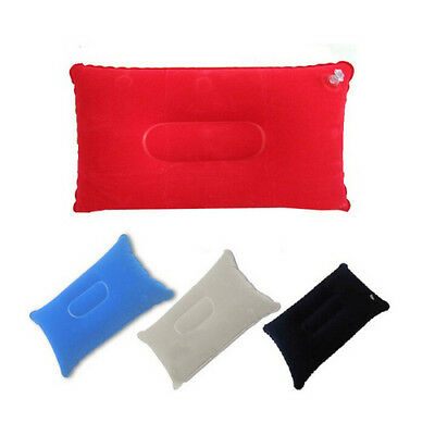 Outdoor Camping Hiking Sleeping Bag Air Inflation Pillow Polyester Aerated