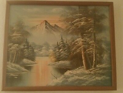 G Whitman  Oil Signed Painting 1960 'S Circa