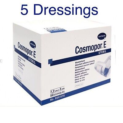 Cosmopor E Sterile Adhesive Surgical Dressings X 5 Cuts,Burns,Wounds,First Aid