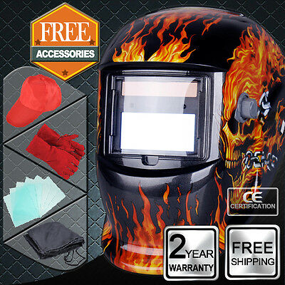 Solar Powered Auto Darkening Welding Mask Helmet welders ARC TIG MIG Grinding UK