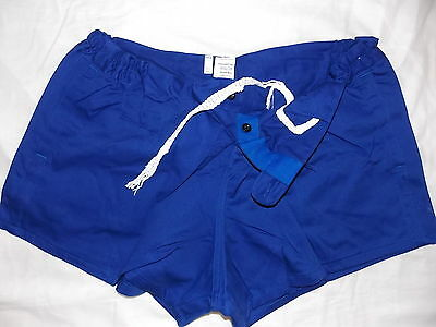 """Traditional Quality 100% Cotton Rugby Sports Shorts Royal Blue 26""""-46"""" New"""