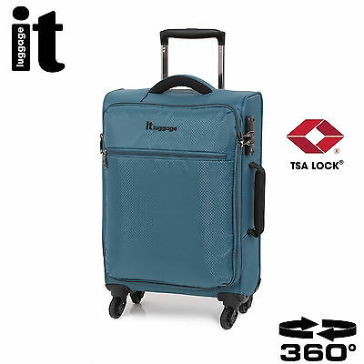 IT Carry On Luggage The LITE Trolley Cabin Bag Lightweight TSA Spinner Suitcase