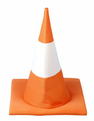 12X Novelty Soft Orange Traffic Cone Hat Fancy Dress Hen Party Stag Do Party Hat
