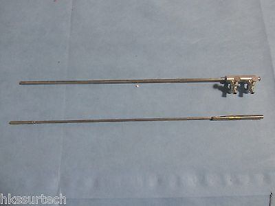 Laparoscopic 5mm  Knot Pusher and Irrigation/Aspiration Trumpet Cannula Combo!!