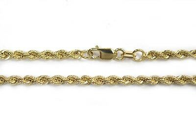 "BRAND NEW 14K Yellow Gold 2.5MM Italy Rope Chain Twist Link Necklace 16"" - 26"""