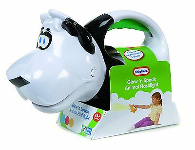 New Little Tikes Glow N Speak Animal Flashlight Panda 628696 Toy Light Torch