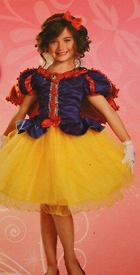 *New* Disney Deluxe Child Costume-PRINCESS SNOW WHITE Size 7+-with Accessories