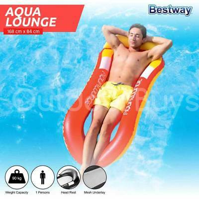Inflatable Pool Lounge Seat Chair | Bestway Single Aqua Lounger
