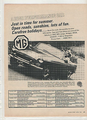 MGB - Motor Sport magazine advert from 1967