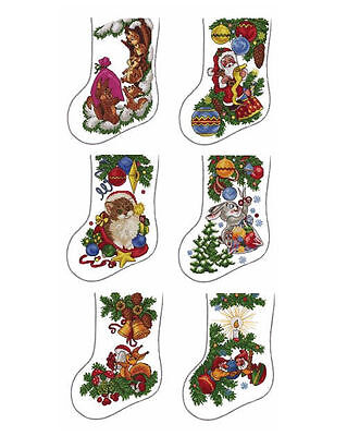 """ABC Designs Woods Stockings Machine Embroidery Cross Stitch Designs 5""""x7"""" Hoop"""