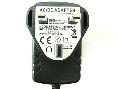 200Ma/0.2A 18V Ac/dc Mains Uk Regulated Switch Mode Power Adaptor/supply/charger