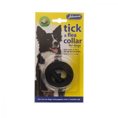 JOHNSONS FLEA&TICK COLLAR WATERPROOF DOGS Med Posted Today if Paid Before 1pm