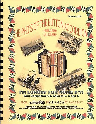 "Accordion Book ,""i'm Longin' For Home B'y"" Easy Tunes To  Play By Numbers"
