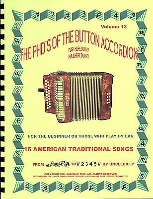 Button Accordion, American Traditional Tunes, For The 1, 2 Or 3 Row, Play By #s
