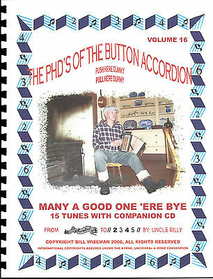 "Button Accordion,""many A Good One 'ere Bye"" With Cd, Play By Numbers"