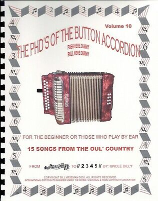 Accordion Book, Songs From The 'oul Country, Play By #s, For The 1, 2 Or 3 Row