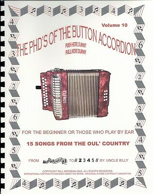 BUTTON ACCORDION Book, Play By #S,