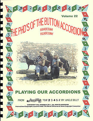 "Accordion Song Book With Cd ""playing Our Accordions"" Play By Numbers"
