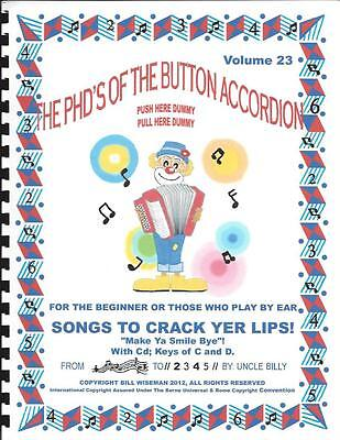 "Accordion, Accordion Books,""songs To Crack Yer Lips"", Play By #s **with Cd**"