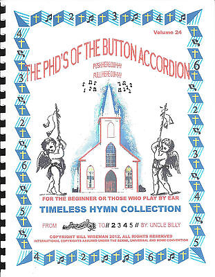 "Accordions, Accordian ""timeless Hymn Collection"",easy & Fun To Learn/ Play By #s"