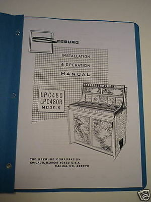 Seeburg LPC480 Jukebox Install & Operation Manual