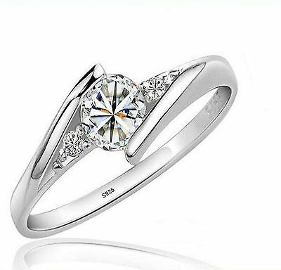 1/2 ct Diamond Sterling Silver Ring + FREE SHIPPING n GIFT POUUCH
