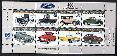 STAMPS MICRONESIA   FORD CARS  Ms. (MNH)  lot Ms 2