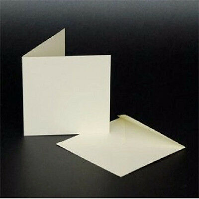 Craft UK 50 X 3 x 3 Ivory Cards and Envelopes pack of 50