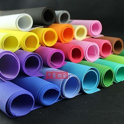 "Funky Foam Sheet Craft EVA Foam, 20""x40"" 50x100cm,Thk 2mm,Choice of Colours VC-2"