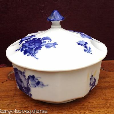 Antique ROYAL COPENHAGEN blue flowers 10/8572 jam bowl jar pot ...