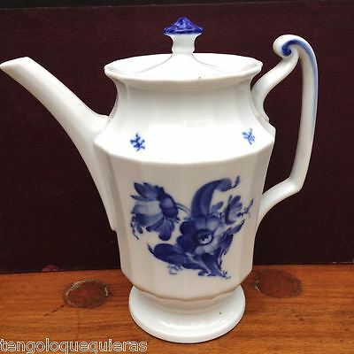 Antique ROYAL COPENHAGEN blue flowers 10/8565 coffee pot
