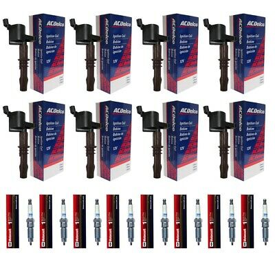 ACDelco High Performance Ignition Coil Set of 8 + 8 Motorcraft Spark Plugs SP509