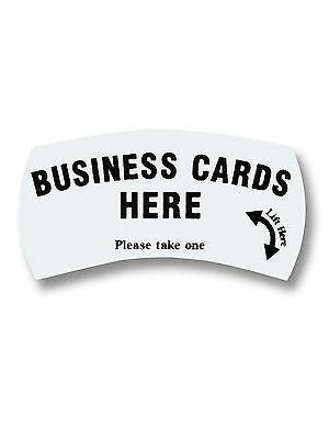"Card Caddie ""Business Cards Here Please take one"" Advertising Sticker"