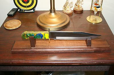 """18"""" Solid Walnut Bowie Knife Display Stand"""