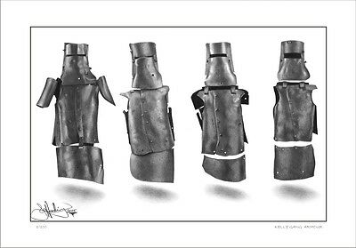 Ned Kelly  Gang  Armour  Drawing         Limited Edition  Print