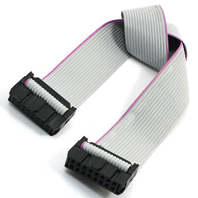 """30cm 11.8"""" 2.54mm Pitch 16 Pin  Ribbon Cable Gray LW"""