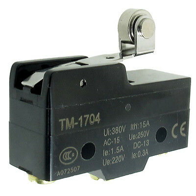 TM-1704 Short Hinge Roller Lever Momentary Micro Limit Switch LW