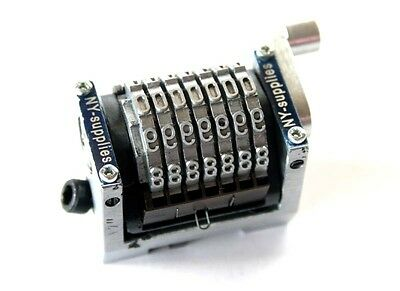 """New 3/16"""" Rotary Straight Backwards Numbering Machine for Morgana - 7 digit"""