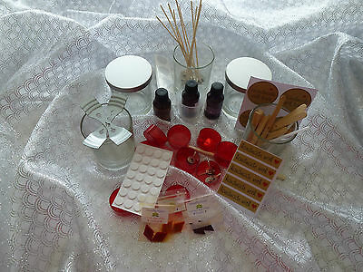 Candle Making 6 Clear Jars Soy Wax Kit Plus all you need READ description please