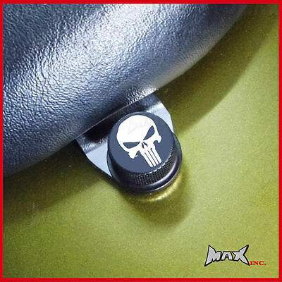 Punisher skull emblem seat bolt Harley Davidson 1987 Low Rider Chrome - FXRC